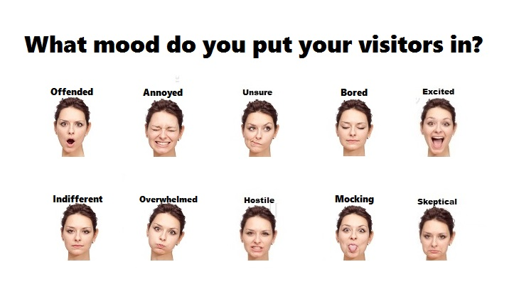 what mood do you put your site visitors in