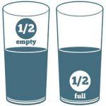 half empty half full glass