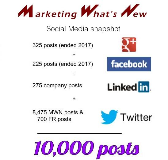 snapshot of social media posts